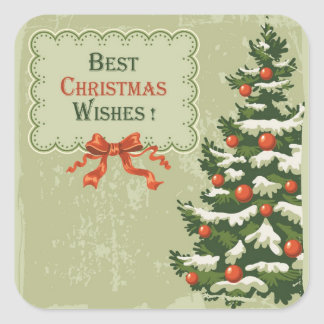 Best Christmas Wishes Square Sticker