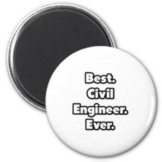 Best. Civil Engineer. Ever. Refrigerator Magnets