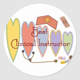 BEST CLINICAL INSTRUCTOR COUNTRY HEARTS STICKERS