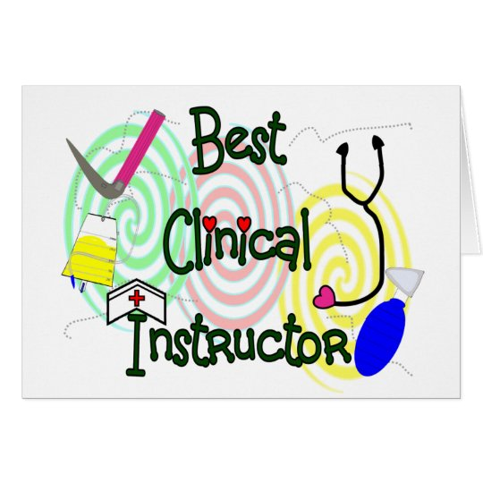 Best Clinical Instructor Nursing Gifts Card