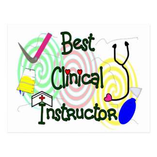 Best Clinical Instructor Nursing Gifts Post Card