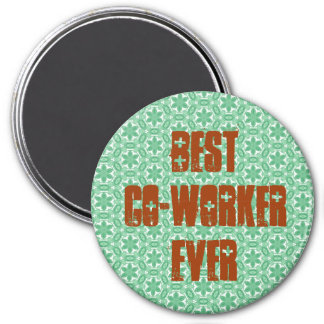 Best Co-worker Ever Modern Green Stars Design Refrigerator Magnets