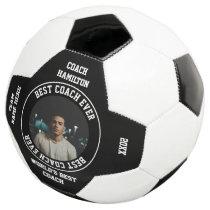 Best Coach Ever Photo Personalized Soccer Ball