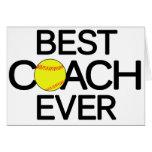 Best Coach Ever Softball Coach Greeting Card