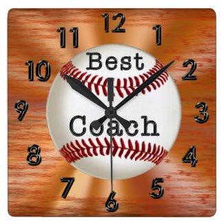 Best Coach GRUNGE Baseball Clock