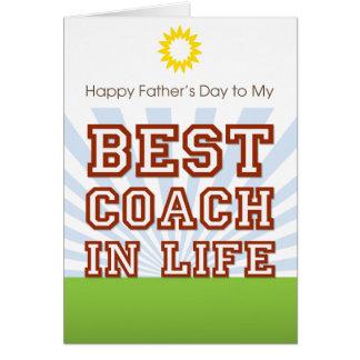 Best Coach in Life! Card