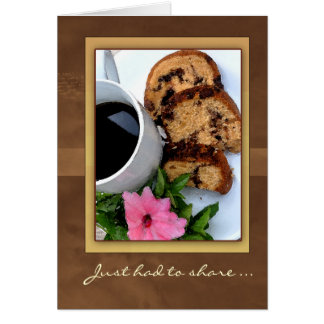 Best coffee cake ever card