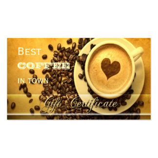 Best Coffee in Town Gift Certificate Template Business Card