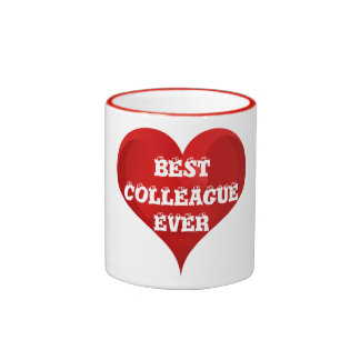 Best Colleague Ever Red Heart Love Mug