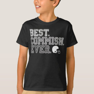 Best Commish Ever: Fantasy Football T-Shirt