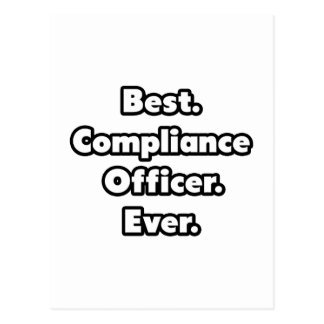 Best. Compliance Officer. Ever. Postcard