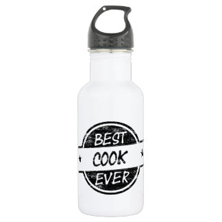 Best Cook Ever Black Stainless Steel Water Bottle