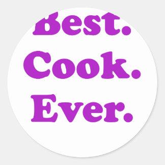 Best Cook Ever Classic Round Sticker