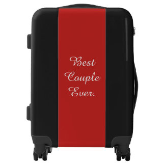 Best Couple Ever Weddings Elegant Red And Black Luggage
