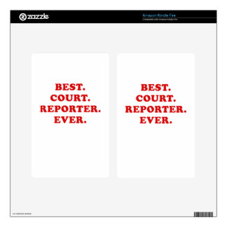 Best Court Reporter Ever Decals For Kindle Fire
