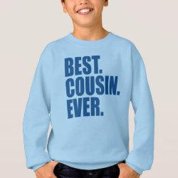 Kids' Hanes ComfortBlend® Sweatshirt with Best. Cousin. Ever. (blue) design