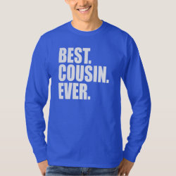 Men's Basic Long Sleeve T-Shirt with Best. Cousin. Ever. (blue) design