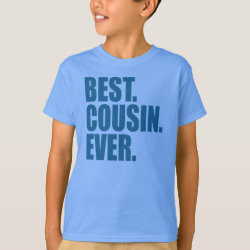 Kids' Hanes TAGLESS® T-Shirt with Best. Cousin. Ever. (blue) design