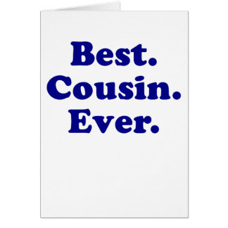 Best Cousin Ever Card