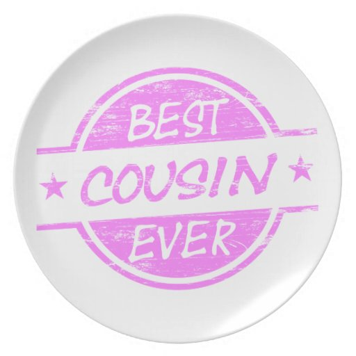 Best Cousin Ever Pink Dinner Plates Zazzle