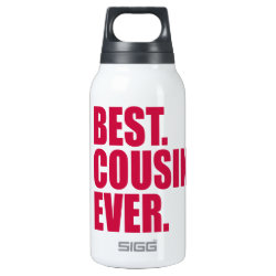 SIGG Thermo Bottle (0.5L) with Best. Cousin. Ever. (pink) design