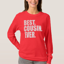 Women's Basic Long Sleeve T-Shirt with Best. Cousin. Ever. (pink) design
