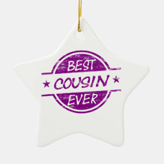 Best Cousin Ever Purple Ceramic Ornament