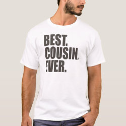 Men's Basic T-Shirt with Best. Cousin. Ever. design