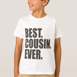 Kids' Hanes TAGLESS® T-Shirt with Best. Cousin. Ever. design
