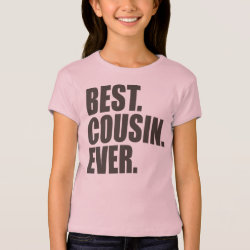 Girls' Bella+Canvas Fitted Babydoll T-Shirt with Best. Cousin. Ever. design
