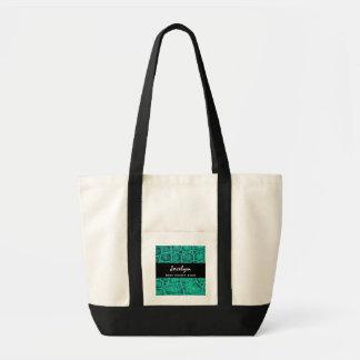 Best COUSIN Ever Teal Green Alligator Print Gift Impulse Tote Bag