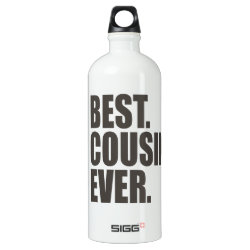 SIGG Traveller Water Bottle (0.6L) with Best. Cousin. Ever. design