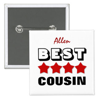 Best COUSIN with Stars RED V13 Button