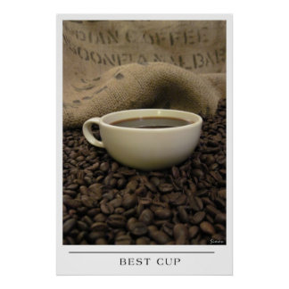 Best Cup - Send Coffee Art Poster