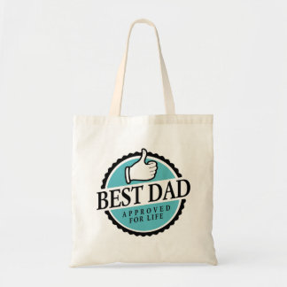 Best dad approved for life farrowed budget tote bag