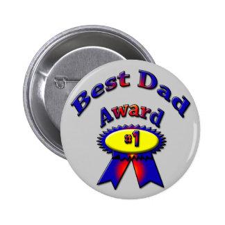 Best Dad Award Pinback Button