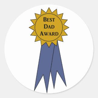 Best Dad Award Stickers