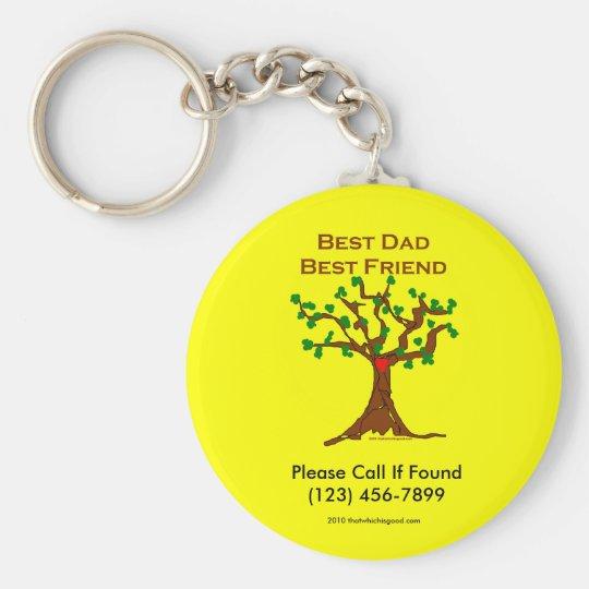 Best Dad Best Friend Keychain