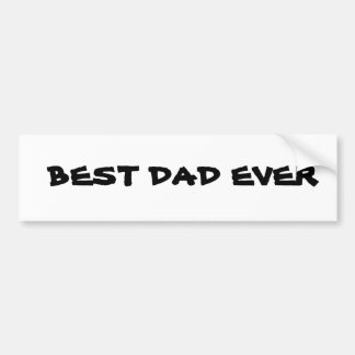 Best Dad Car Bumper Sticker