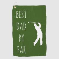 Best Dad by Par Funny Golf Golfing Golf Towel