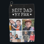 """Best Dad By Par Photo Collage Golf Towel<br><div class=""""desc"""">Modern Photo Collage Golf Towel. Design features 4 photos of kids and ''Best Dad By Par'' typography script. Trendy gift for fathers day ,  birthday,  Christmas etc.</div>"""