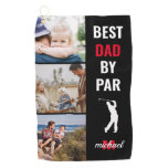 Best Dad By Par Photo Monogram Fathers Day Gift Go Golf Towel