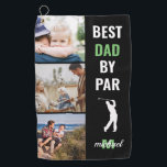 """Best Dad By Par Photo Monogram Fathers Day Gift Golf Towel<br><div class=""""desc"""">Surprise your golf pro dad with a Father's Day gift he can proudly use on the golf course! Add 3 (three) custom pictures to this design from either your phone or computer and personalize the monogram by changing the name and initial.</div>"""