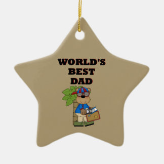 Best Dad Ceramic Ornament