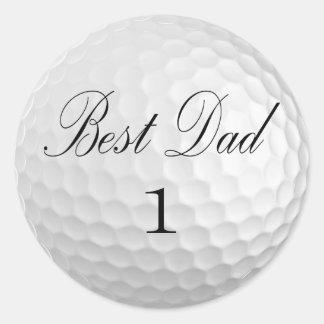 Best Dad Classic Round Sticker