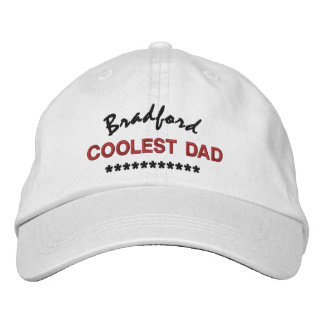 BEST DAD Custom Name RED BLACK Embroidery V01C9 Embroidered Hat