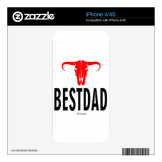 Best Dad Daddy & Bull by Vimago Decal For The iPhone 4S