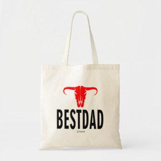 Best Dad Daddy & Bull by Vimago Tote Bag