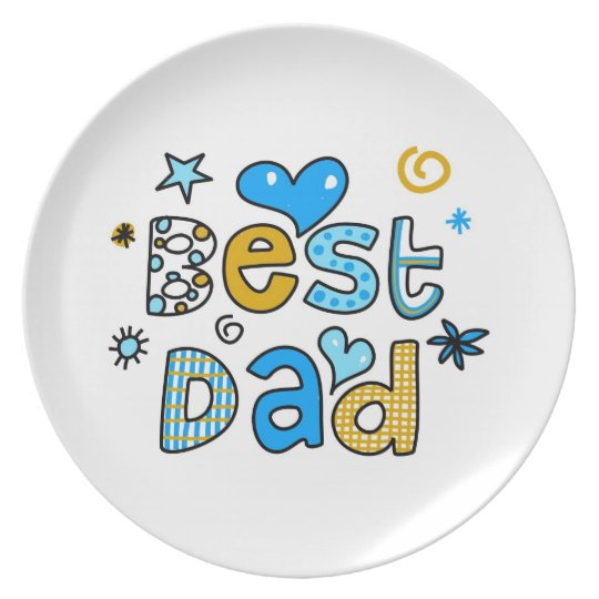 Best Dad Dinner Plate
