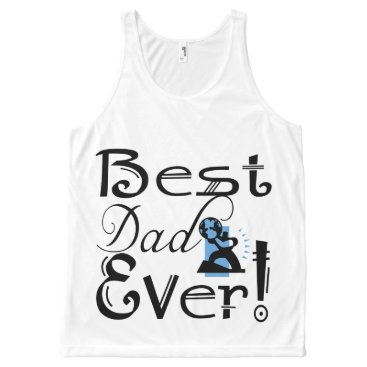 """""""Best Dad Ever!"""" #2C-1 T-Shirt All-Over Print Tank Top"""